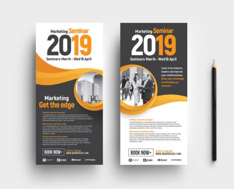 Marketing Seminar Flyer Template - PSD, Ai  Vector - BrandPacks