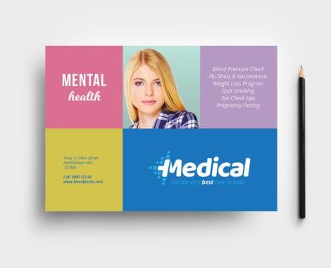 Modern Medical Tri-Fold Brochure Template in PSD, Ai  Vector