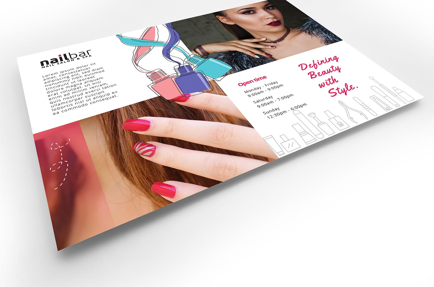 Nail Salon Nail Salon Flyer Template In Psd Ai Vector Brandpacks