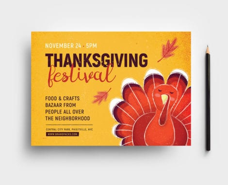 Thanksgiving Flyer Template - PSD, Ai  Vector - BrandPacks