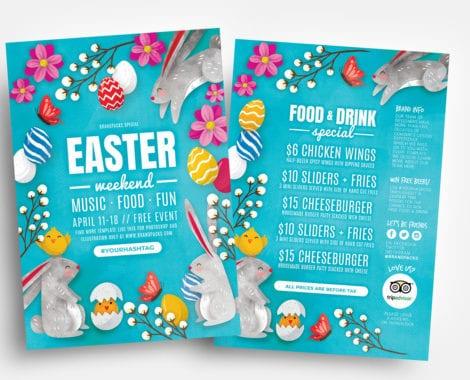 Easter Flyer Template - Vector, Ai  PSD - BrandPacks