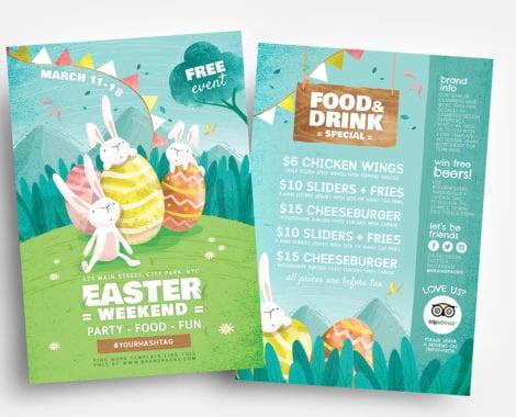 Easter Flyer Template v2 - PSD, Ai  Vector - BrandPacks