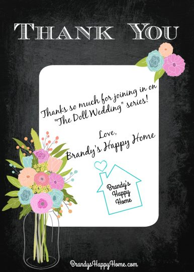 Doll Wedding Thank You Notes