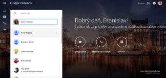Služba Google Hangouts má webového klienta