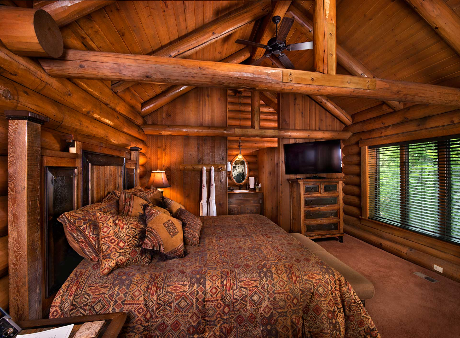 Sofa For A Bedroom Gallery | The Bluff House | Branson Log Cabins