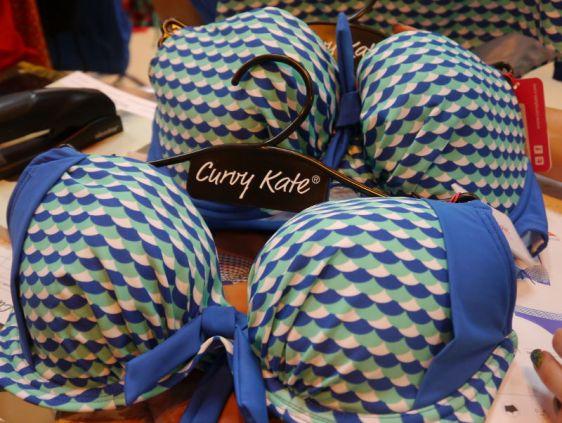 Curvy Kate Swim Atlantis Padded Plunge and Halterneck Deep Sea