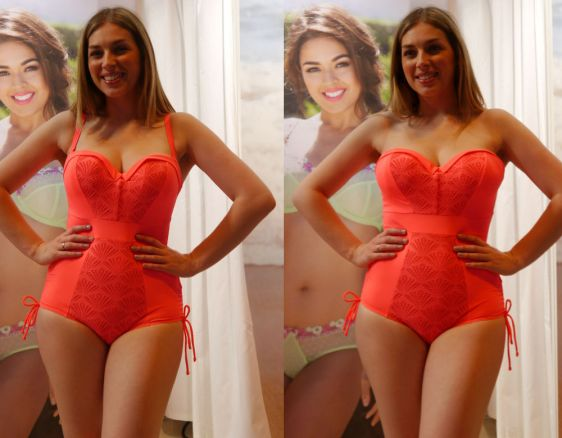 Curvy Kate Swim Siren Coral With Straps And Strapless