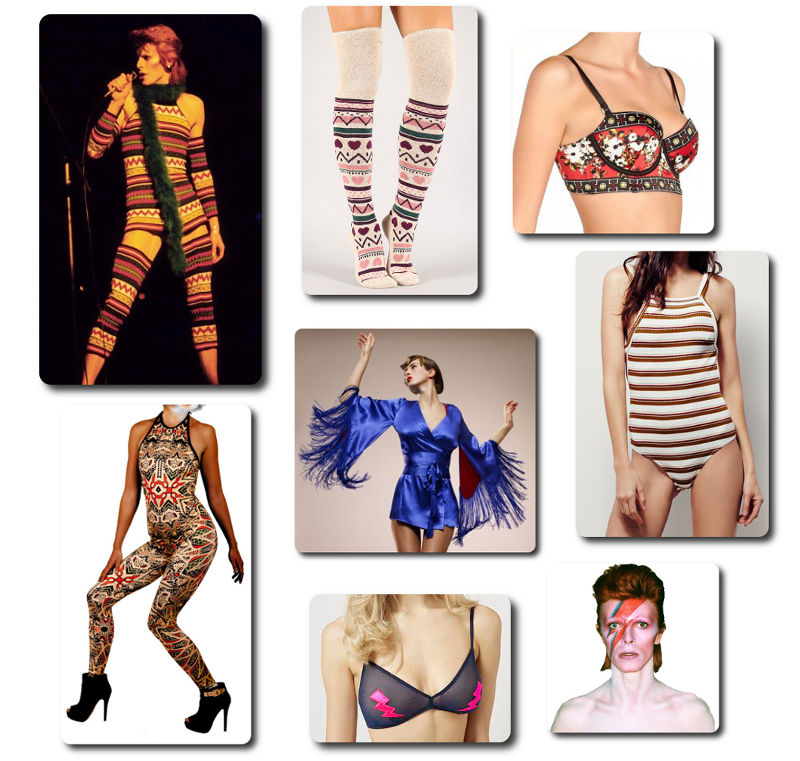 David Bowie - Ziggy Stardust Inspired Lingerie
