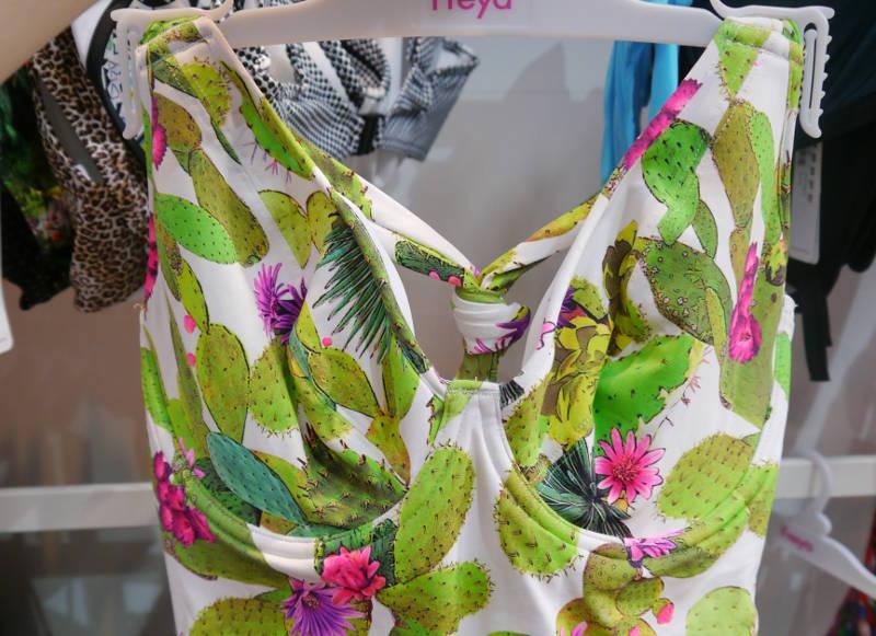 Freya Swim Catcus Padded Halter Suit Lime Fizz 2