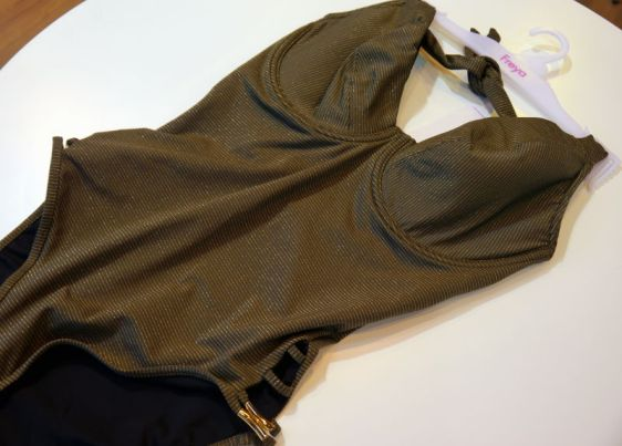 Freya Swim Glam Rock Padded Halter Suit in Olive (Freya Swim AW16)
