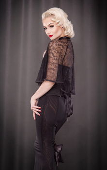 Kiss Me Deadly - Pankhurst Black Lace Capelet