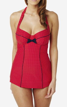 LCL Panache Swim Britt Red Polka Dot