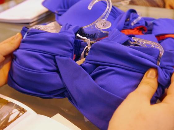 Lepel Swim Lagoon Halter Bandeau Bikini Blue