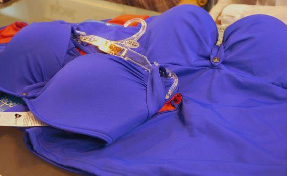 Lepel Swim Lagoon Moulded Balconette and Halter Bandeau Bikini Blue