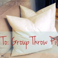 How To: Group Throw Pillows