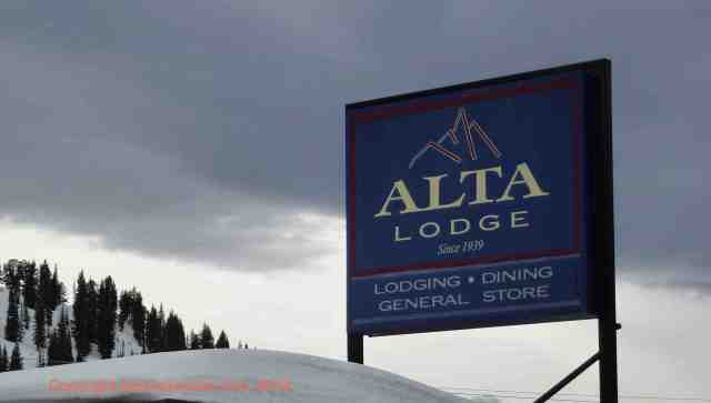 alta lodge sign