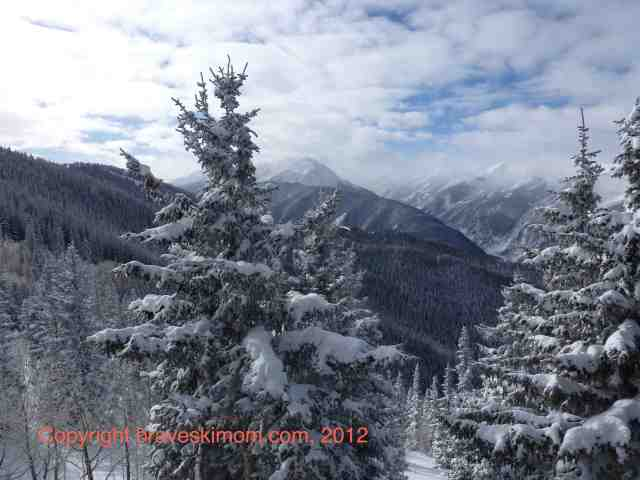 beautiful winter morning aspen colorado