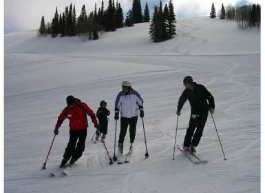 author judy berna learning to ski at Park City Utah