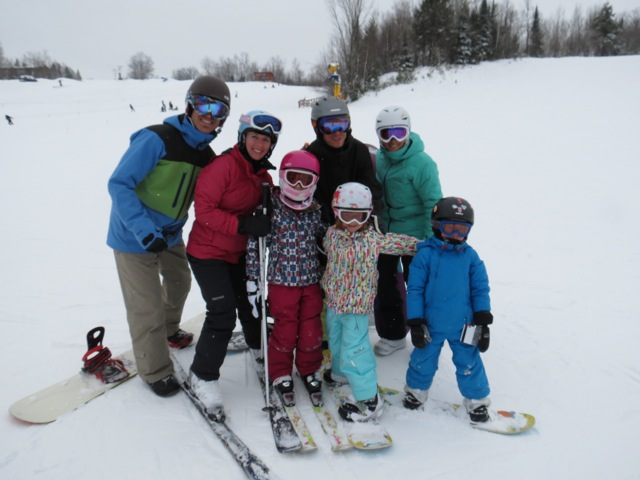 family skiing at blackjack ski resort
