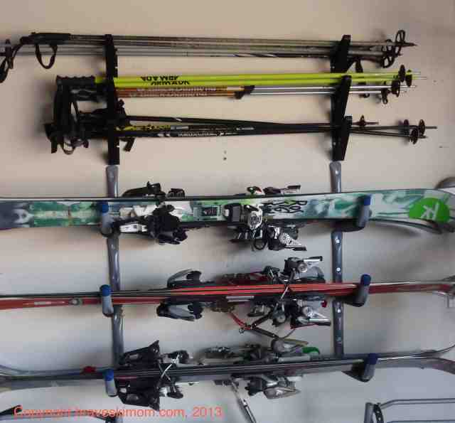 ski and pole storage