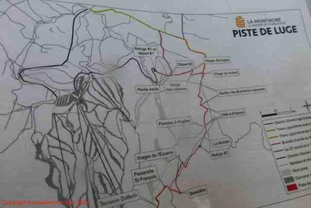 luge track map piste de luge