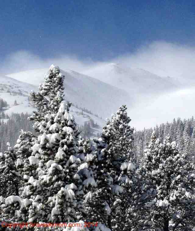 pretty pow day breck colorado