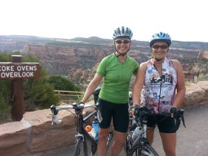 cycling with friends on colorado national monument
