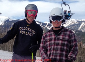 boys at aspen spring skiing