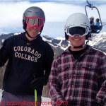 boys at aspen spring skiing