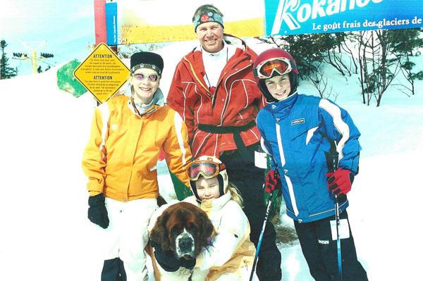 family ski trip mont sainte anne