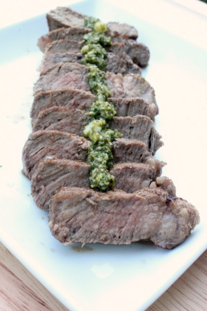 herb topped steak1