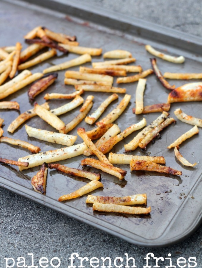 Who said french fries had to be made with potatoes? Try my Paleo French Fries made with jicama.