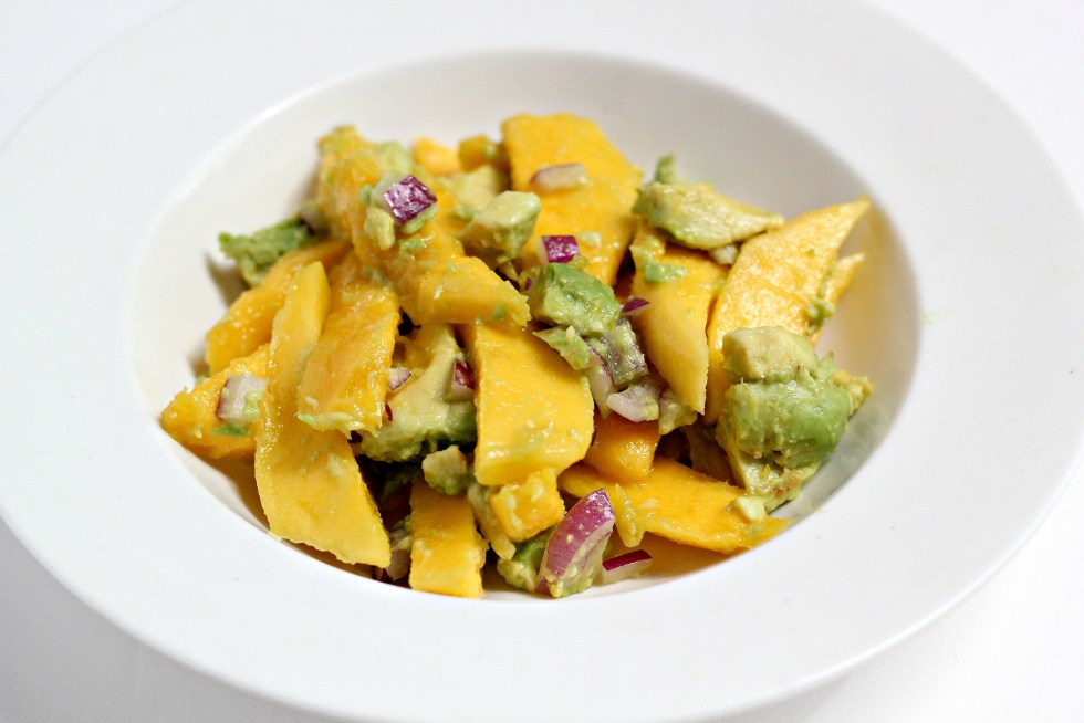 This Mango Avocado Salad is the perfect light appetizer or side dish! Sure to cool down any hot day.