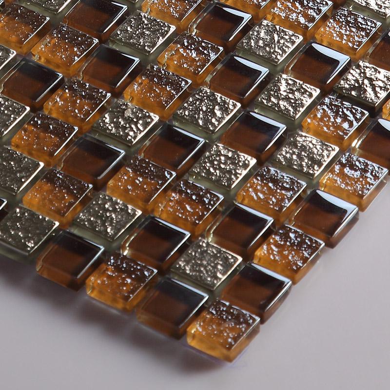 tile idea kitchen backsplash wall tiles metal coating tile brown silver metal mosaic stainless steel kitchen wall tile backsplash