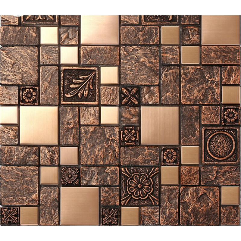steel tiles brass resin metal mosaic tile patterns kitchen backsplash home improvements refference mosaic tile patterns kitchen backsplash