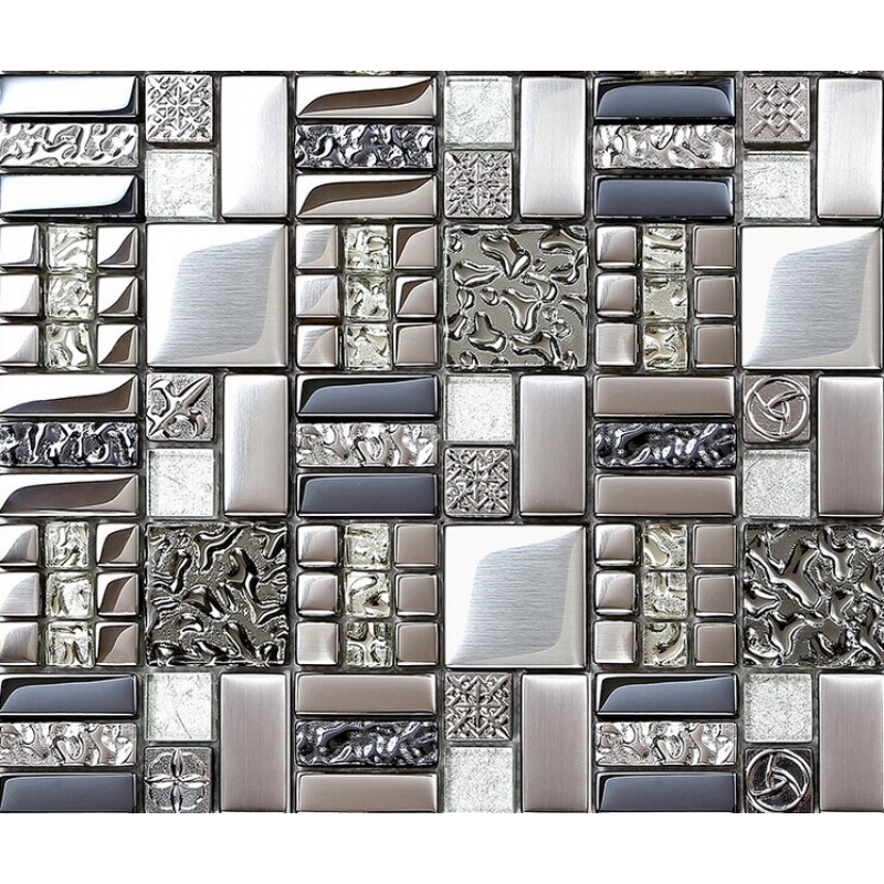 kitchen backsplash tiles plated glass mosaic metal stainless steel stainless steel subway tile kitchen backsplash large stainless