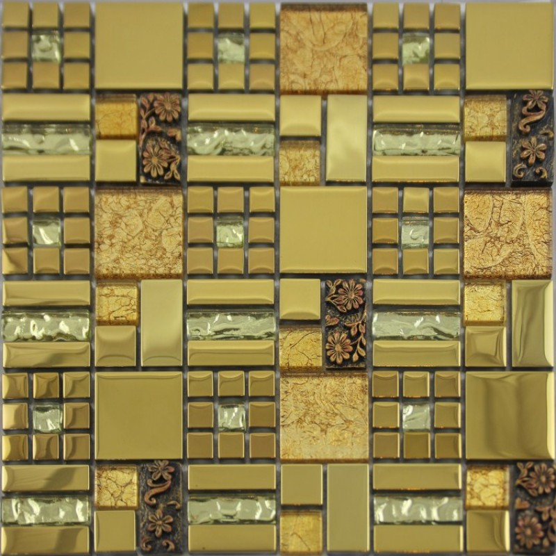glass mosaic crack art wall plated kitchen backsplash tile cheap floor wall tile classic wood mosaic tile kitchen backsplash mosaic tile
