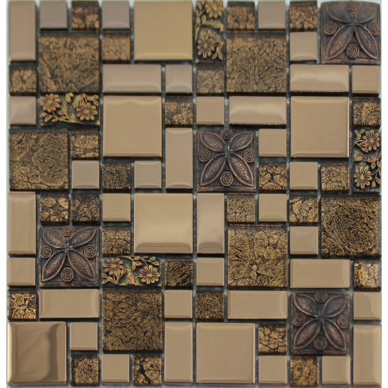 glass mosaic crack art wall plated kitchen backsplash tile cheap floor home improvements refference cheap kitchen backsplash