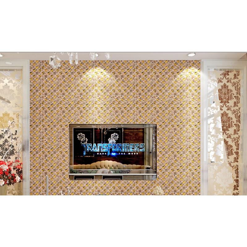 glass metal backsplash tiles kitchen bathroom bronze silver metal mosaic stainless steel kitchen wall tile backsplash