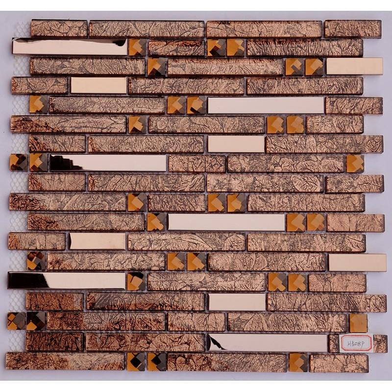 stainless steel backsplash gold glass mosaic diamond tile kitchen mosaic backsplashes pictures ideas tips hgtv hgtv