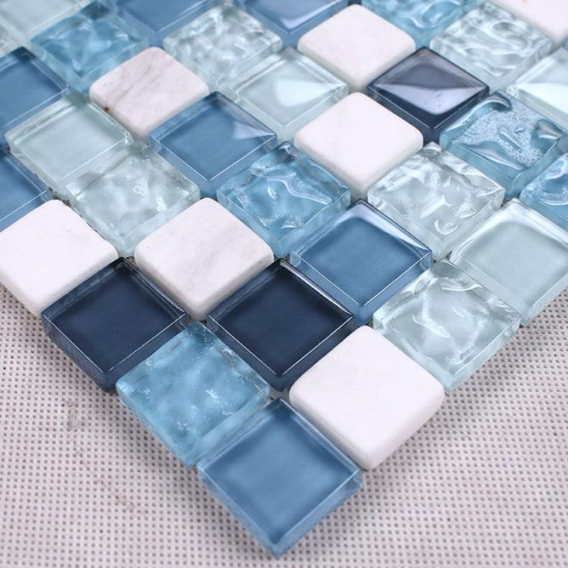 mosaic tile backsplash kitchen design blue glass stone blend mosaic mosaic backsplashes pictures ideas tips hgtv hgtv