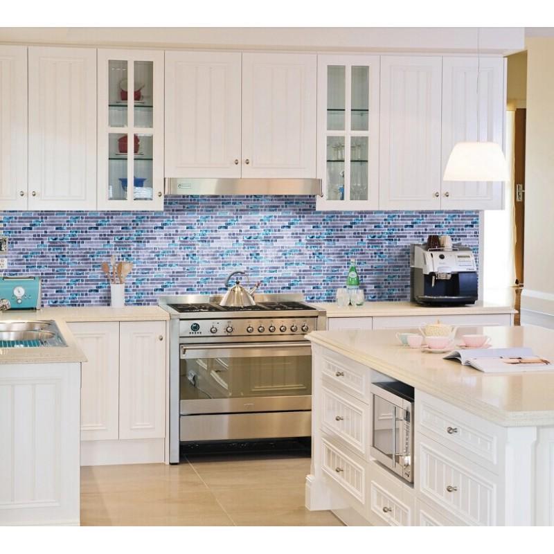 blue glass stone mosaic wall tiles gray marble tile kitchen backsplash kitchen rich brown cabinetry mosaic tile backsplash hgtv