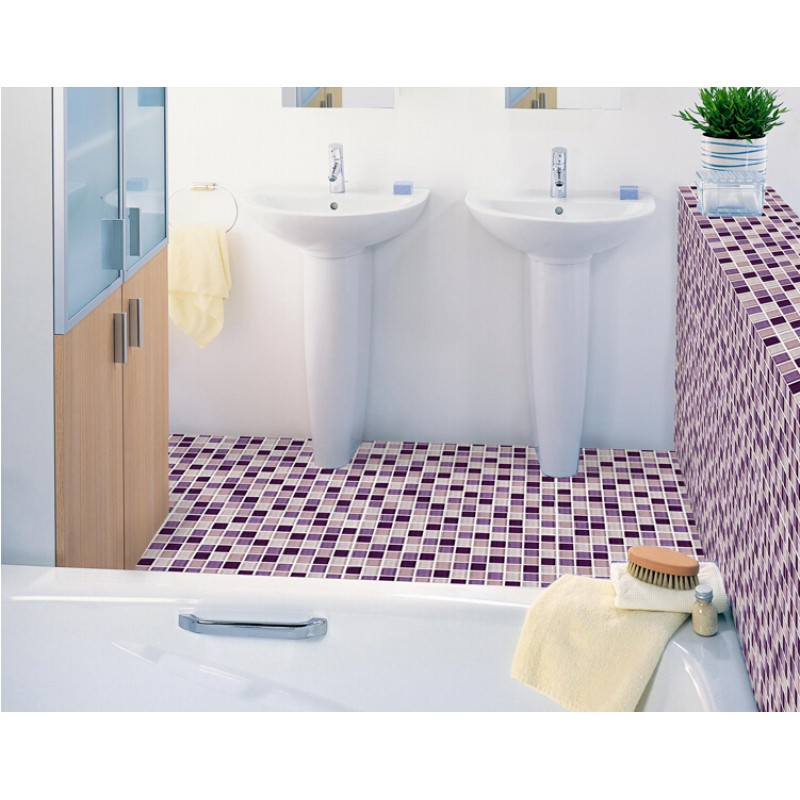 Mosaik Fliesen Küche Boden Purple Glass Mosaic Tiles Backsplash Kitchen Bathroom Wall