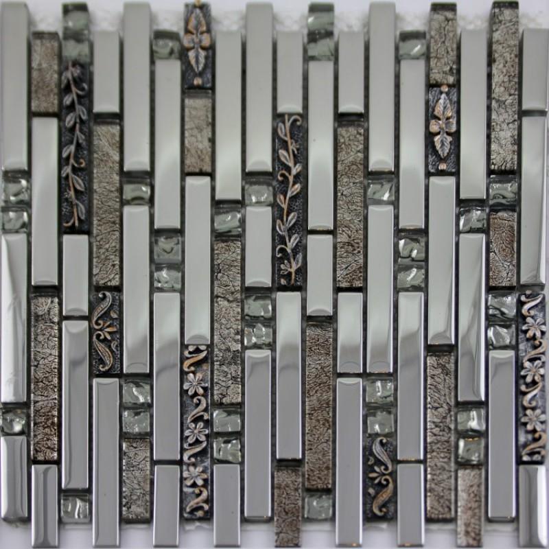 tiles kitchen backsplash interlocking crystal glass metal mosaics silver metal mosaic stainless steel kitchen wall tile backsplash