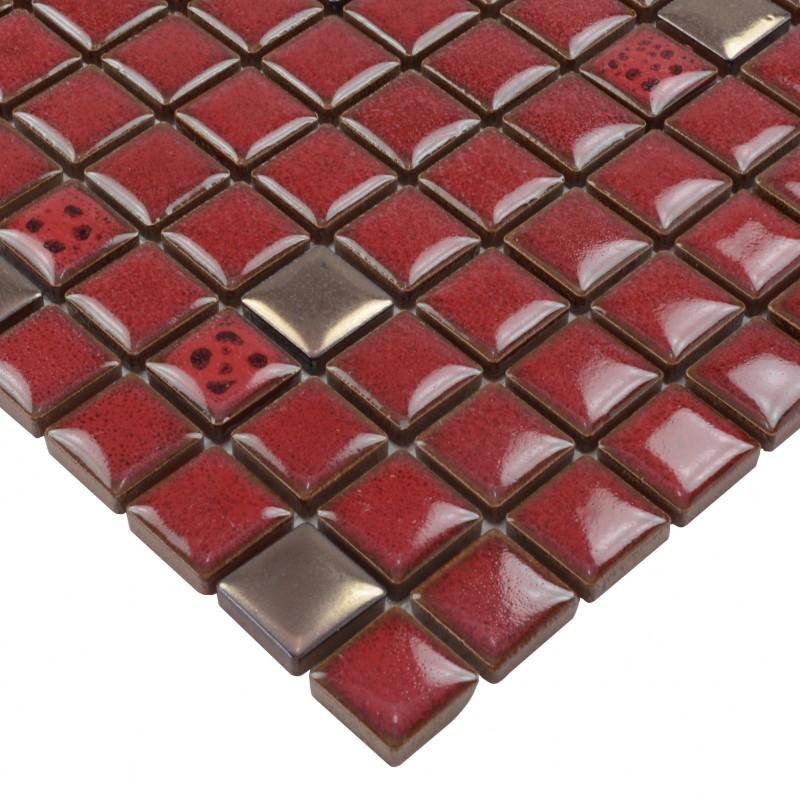 red tile kitchen backsplash glazed porcelain mosaic tile sheets square awesome kitchen backsplash ideas decoholic