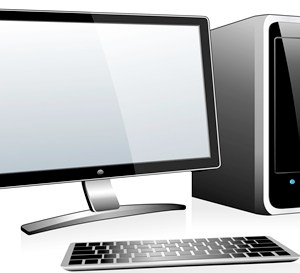 3D Computer with Monitor Keyboard and Mouse