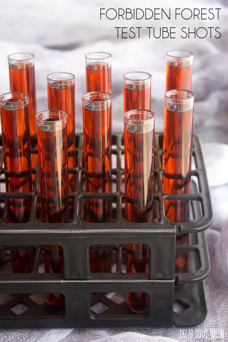 Easy Halloween Shots Recipes Forbidden Forest Test Tube Shots