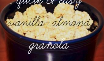 Homemade Vanilla Almond Granola