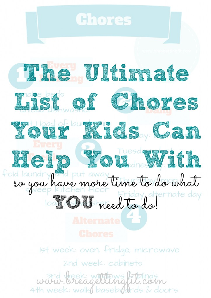The Ultimate Chores List Your Kids Can Help You With