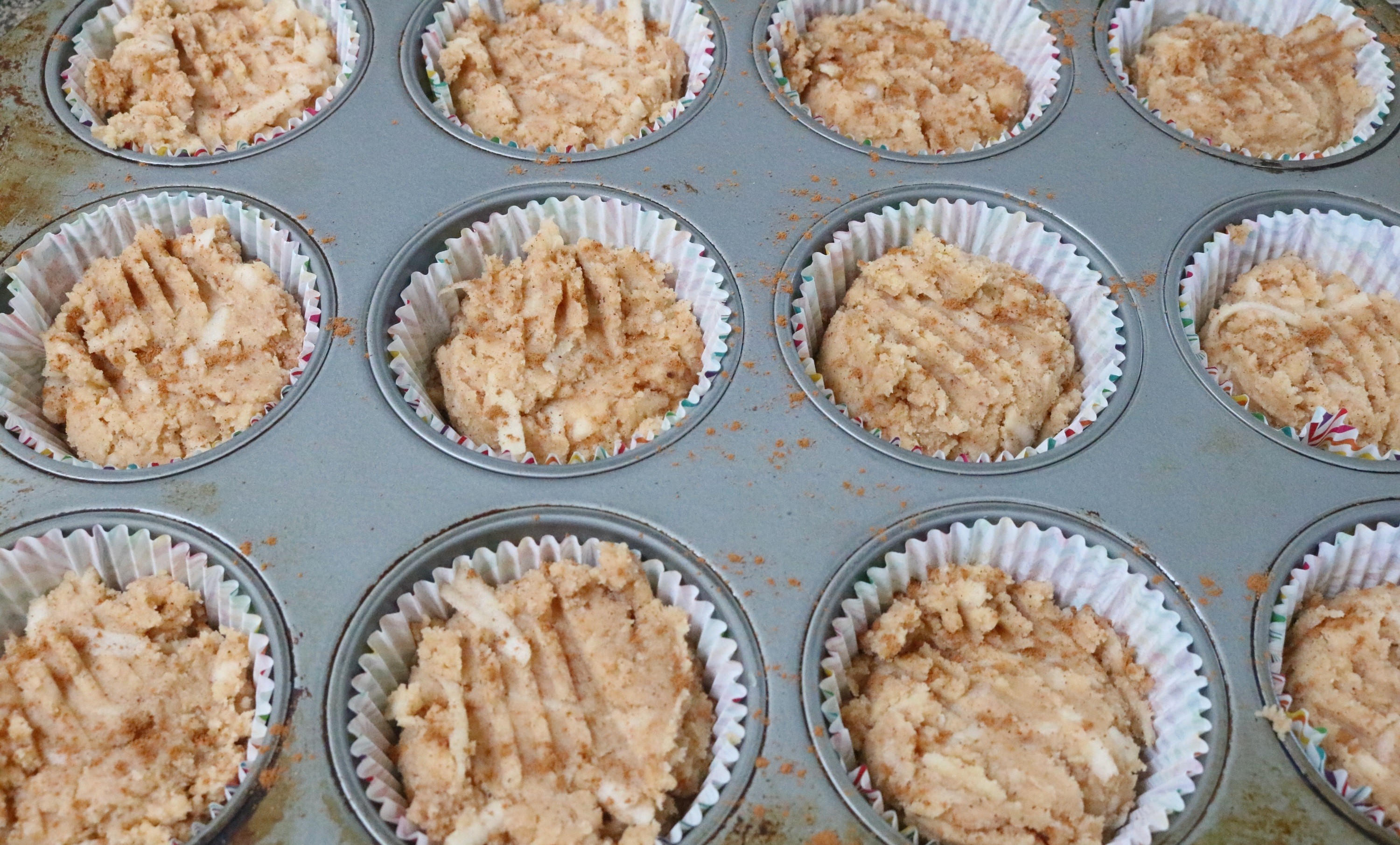 Coconut Flour Apple Muffins